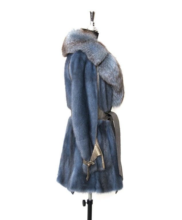 Edouard Blue Fur Coat 3