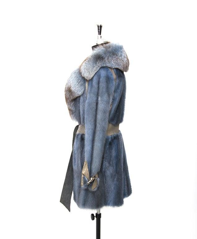 Edouard Blue Fur Coat 4