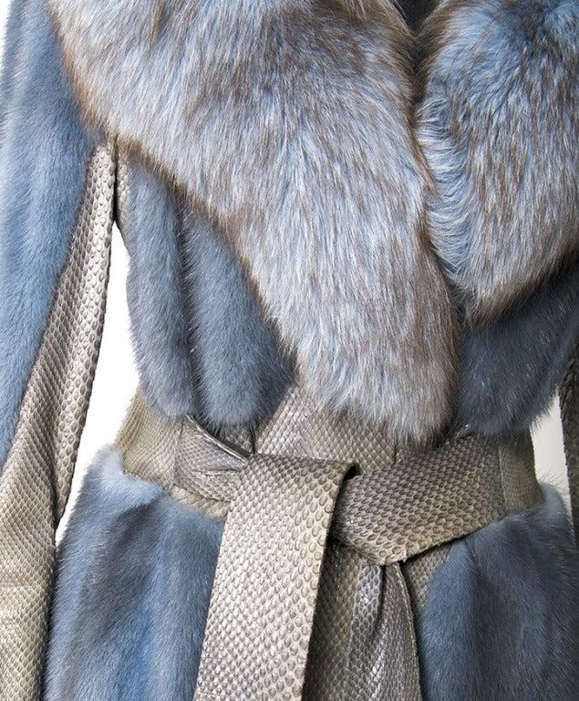 Edouard Blue Fur Coat 5