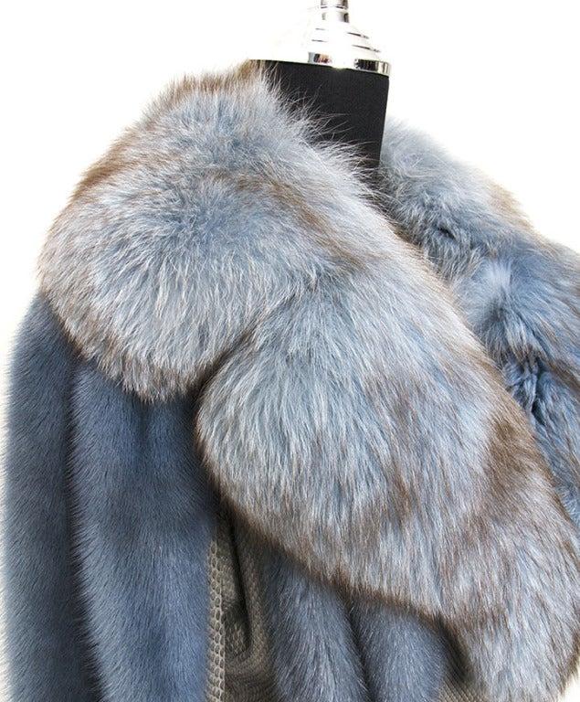 Edouard Blue Fur Coat 6