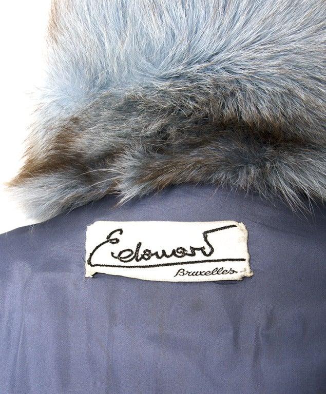 Edouard Blue Fur Coat 7