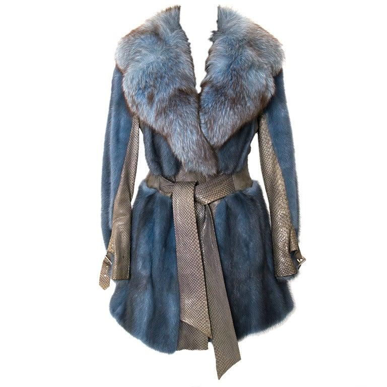 Edouard Blue Fur Coat 1