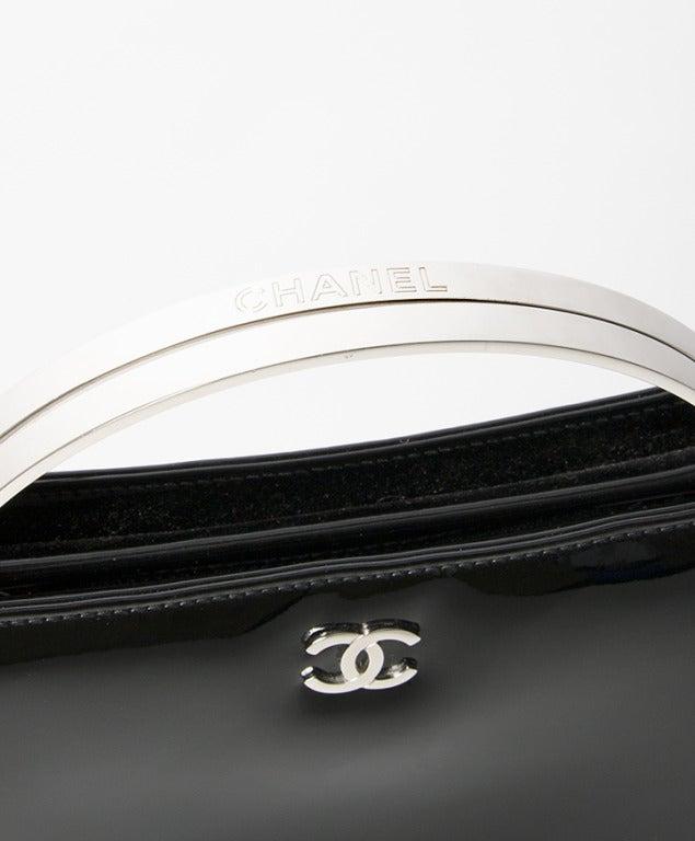 Chanel Patent Black Evening Purse 2