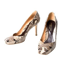 Sergio Rossi Real Snake Pumps