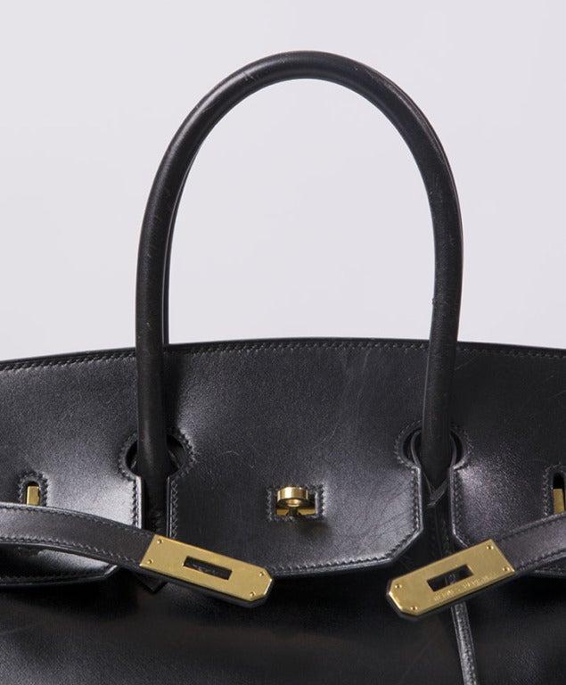 birkin price - HERMES BIRKIN 35CM Black box calf leather at 1stdibs