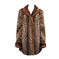 Authentic Leopard Fur Coat by Lamont-Nuytens