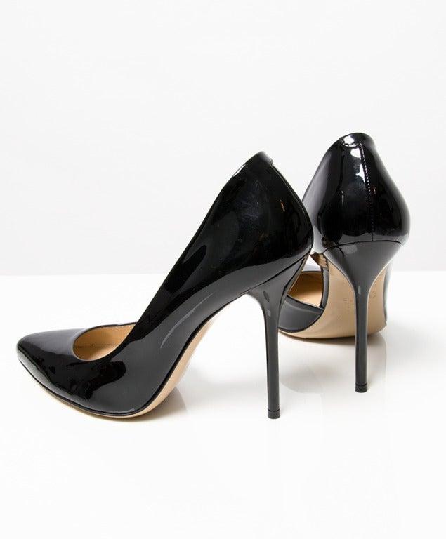 Black Leather High Heels
