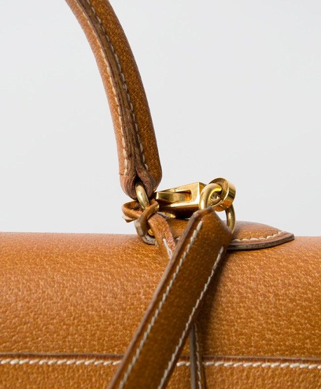 Hermes Kelly Bag 35 cm Gold color Shoulder Strap 3
