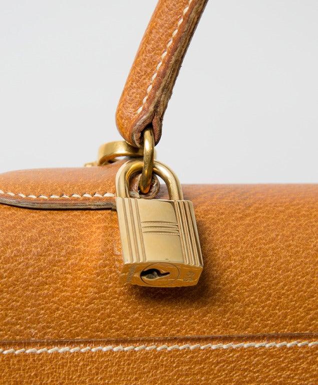 Hermes Kelly Bag 35 cm Gold color Shoulder Strap 4