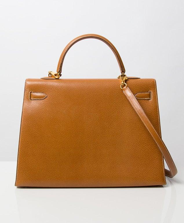 Hermes Kelly Bag 35 cm Gold color Shoulder Strap 6