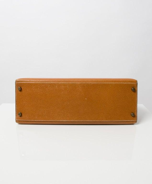Hermes Kelly Bag 35 cm Gold color Shoulder Strap 7