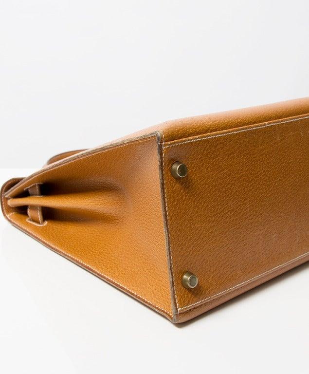 Hermes Kelly Bag 35 cm Gold color Shoulder Strap 8