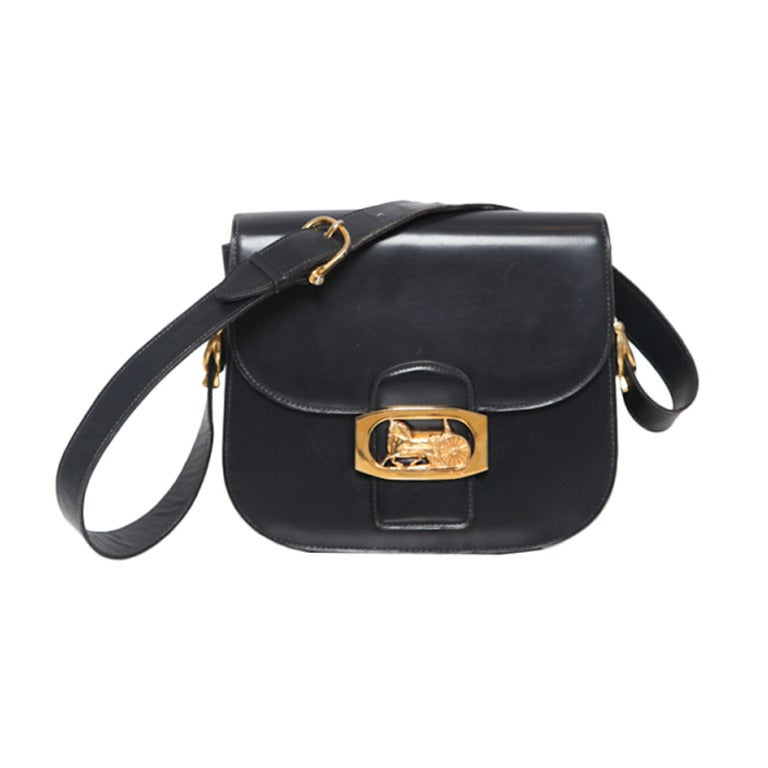 celine nano luggage bag price - Celine horse carriage clapse shoulder bag at 1stdibs