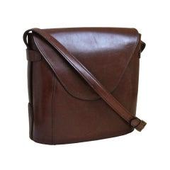 1980's AZZEDINE ALAIA brown leather bag