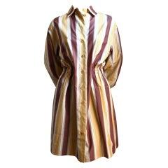 AZZEDINE ALAIA striped poplin shirt dress
