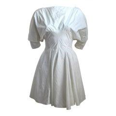 1980's AZZEDINE ALAIA nylon dress with full skirt