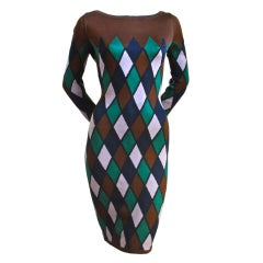 AZZEDINE ALAIA harlequin dress