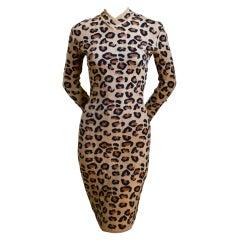 AZZEDINE ALAIA iconic leopard dress