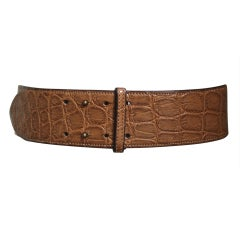 1980's AZZEDINE ALAIA aligator leather belt