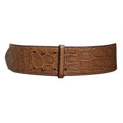 1980's AZZEDINE ALAIA aligator leather belt