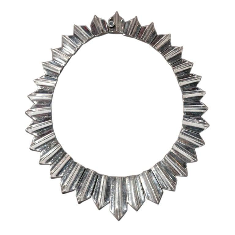 Antonio Pineda Zig-Zag Sterling Silver Necklace