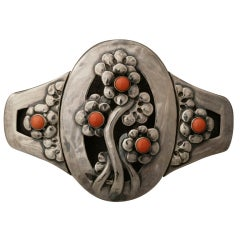 Georg Jensen Coral Silver Museum Quality Belt Buckle No.826