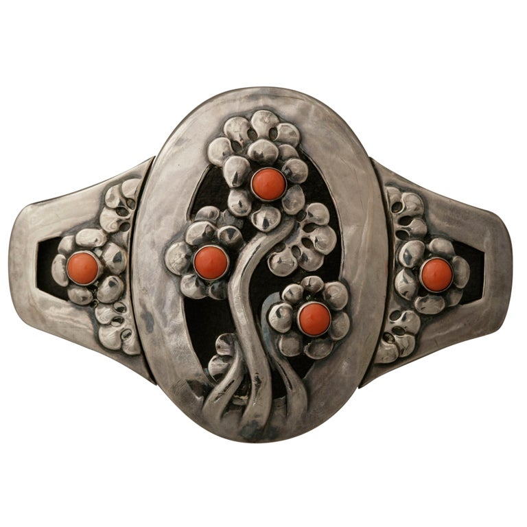 Georg Jensen Coral Silver Museum Quality Belt Buckle No. 826