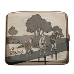 Japanese Mixed Metal Cigarette Case