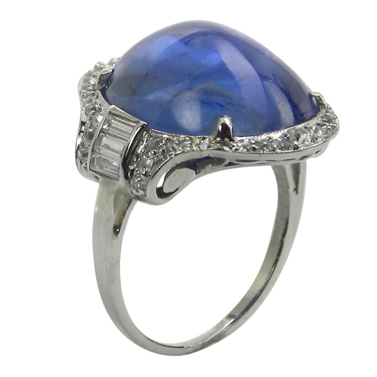 antique platinum sapphire and ring at 1stdibs