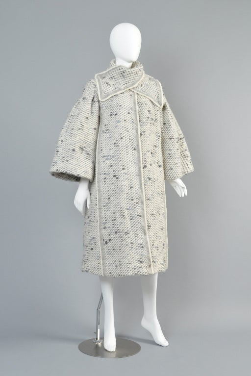 Pauline Trigere 1960s Pagoda Sleeve Scarf Coat At 1stdibs
