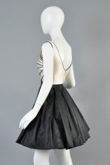 Valentino 1980s Scallop Bust Silk Cocktail Dress thumbnail 7