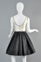 Valentino 1980s Scallop Bust Silk Cocktail Dress thumbnail 8