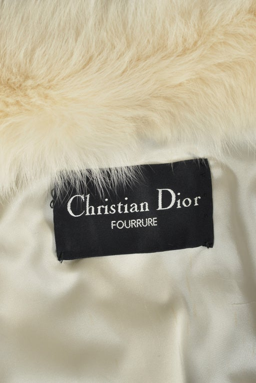 Christian Dior Feathered Arctic Fox Fur Coat image 10
