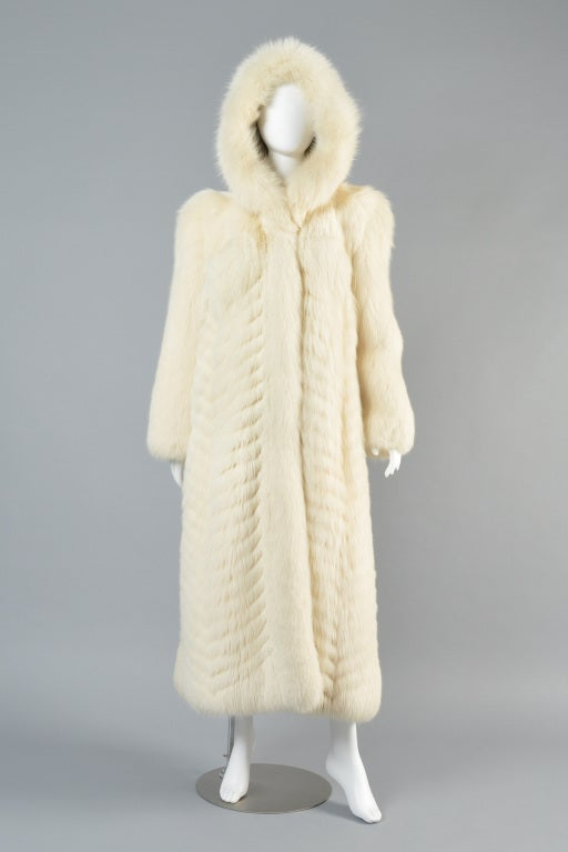 Christian Dior Feathered Arctic Fox Fur Coat image 2