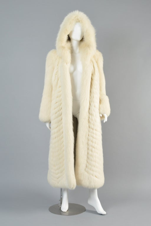 Christian Dior Feathered Arctic Fox Fur Coat image 3