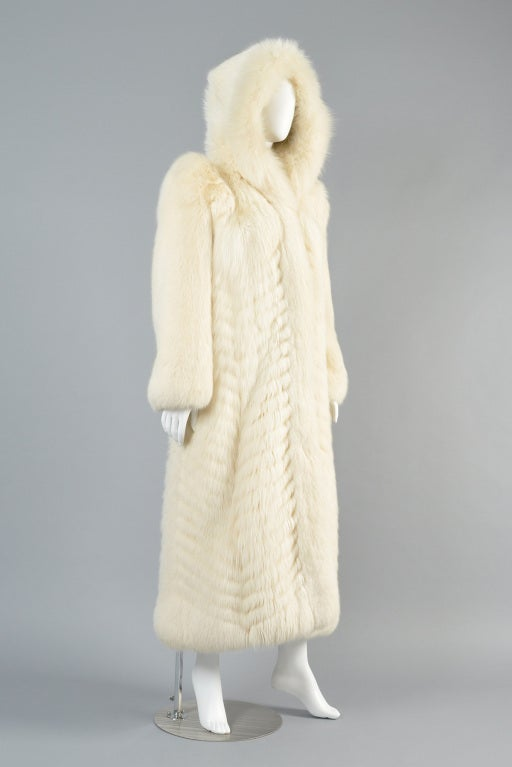 Christian Dior Feathered Arctic Fox Fur Coat image 4