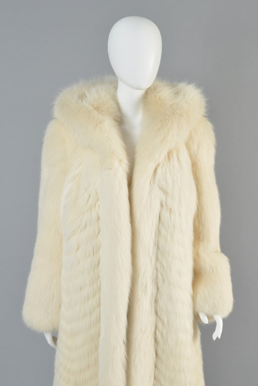 Christian Dior Feathered Arctic Fox Fur Coat image 6
