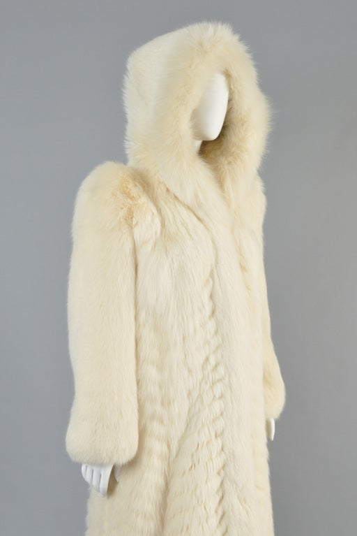 Christian Dior Feathered Arctic Fox Fur Coat image 7