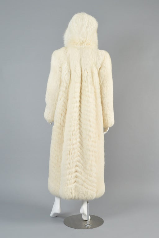 Christian Dior Feathered Arctic Fox Fur Coat image 8