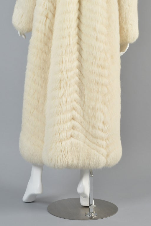 Christian Dior Feathered Arctic Fox Fur Coat image 9