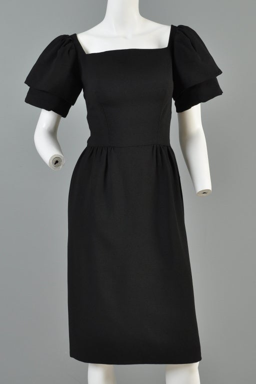 Christian Dior 1960s Tiered Sleeve Cocktail Dress image 2