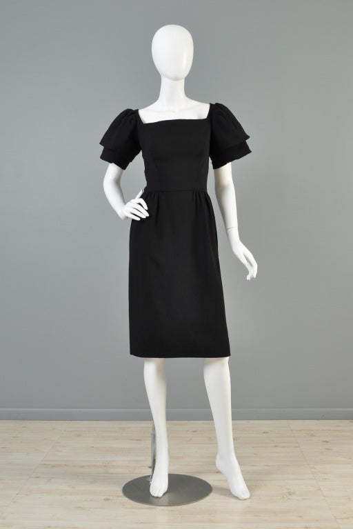 Christian Dior 1960s Tiered Sleeve Cocktail Dress image 3