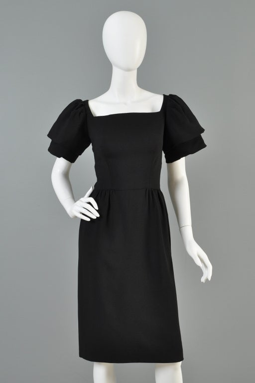 Christian Dior 1960s Tiered Sleeve Cocktail Dress image 4