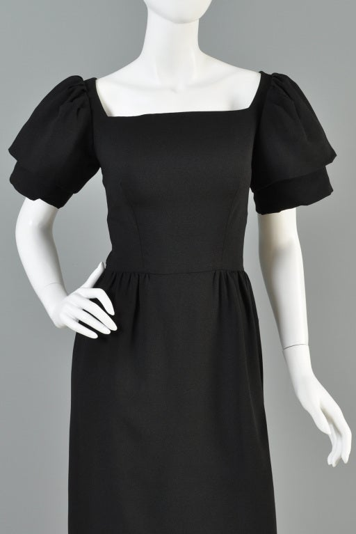 Christian Dior 1960s Tiered Sleeve Cocktail Dress image 5
