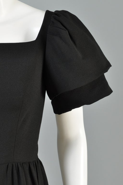 Christian Dior 1960s Tiered Sleeve Cocktail Dress image 6