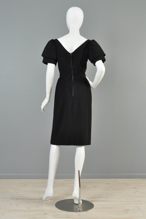 Christian Dior 1960s Tiered Sleeve Cocktail Dress image 7
