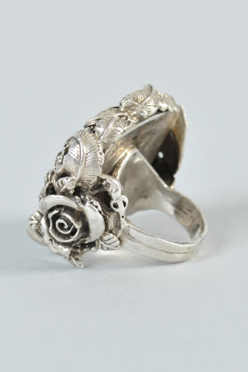 Bob Stringer Agatized Petrified Wood Sterling Silver Ring image 6
