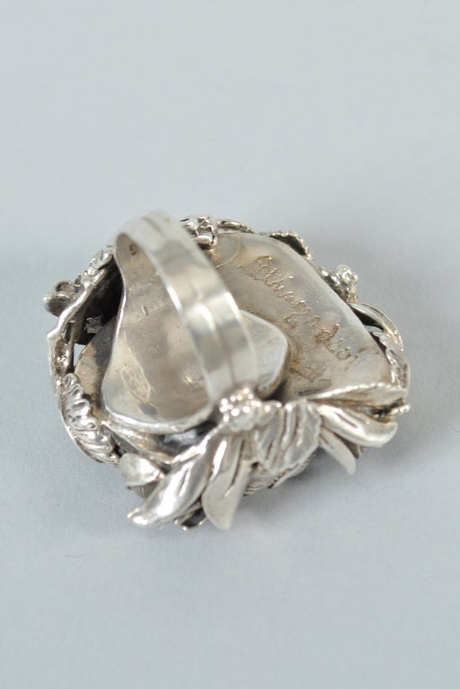 Bob Stringer Agatized Petrified Wood Sterling Silver Ring image 9