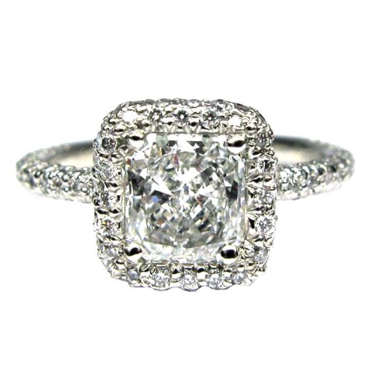 101 Carat Marquise Diamond Platinum Frame Engagement Ring At 1stdibs
