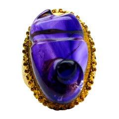 Buccellati Free-form Amethyst Ring